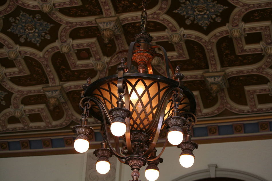 Architectural Feature Architecture Built Structure Ceiling Decoration Design Electric Lamp Electric Light Illuminated Lighting Equipment Low Angle View No People Ornate Sky The Empress The Fairmont Empress Hotel Travel Destinations