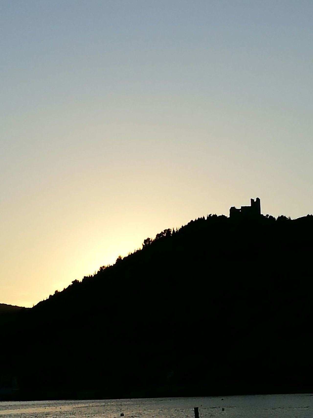 Qui si sogna. Silhouette Sunset No People Nature Water Outdoors Tranquility Clear Sky My Favorite Place Myparadise