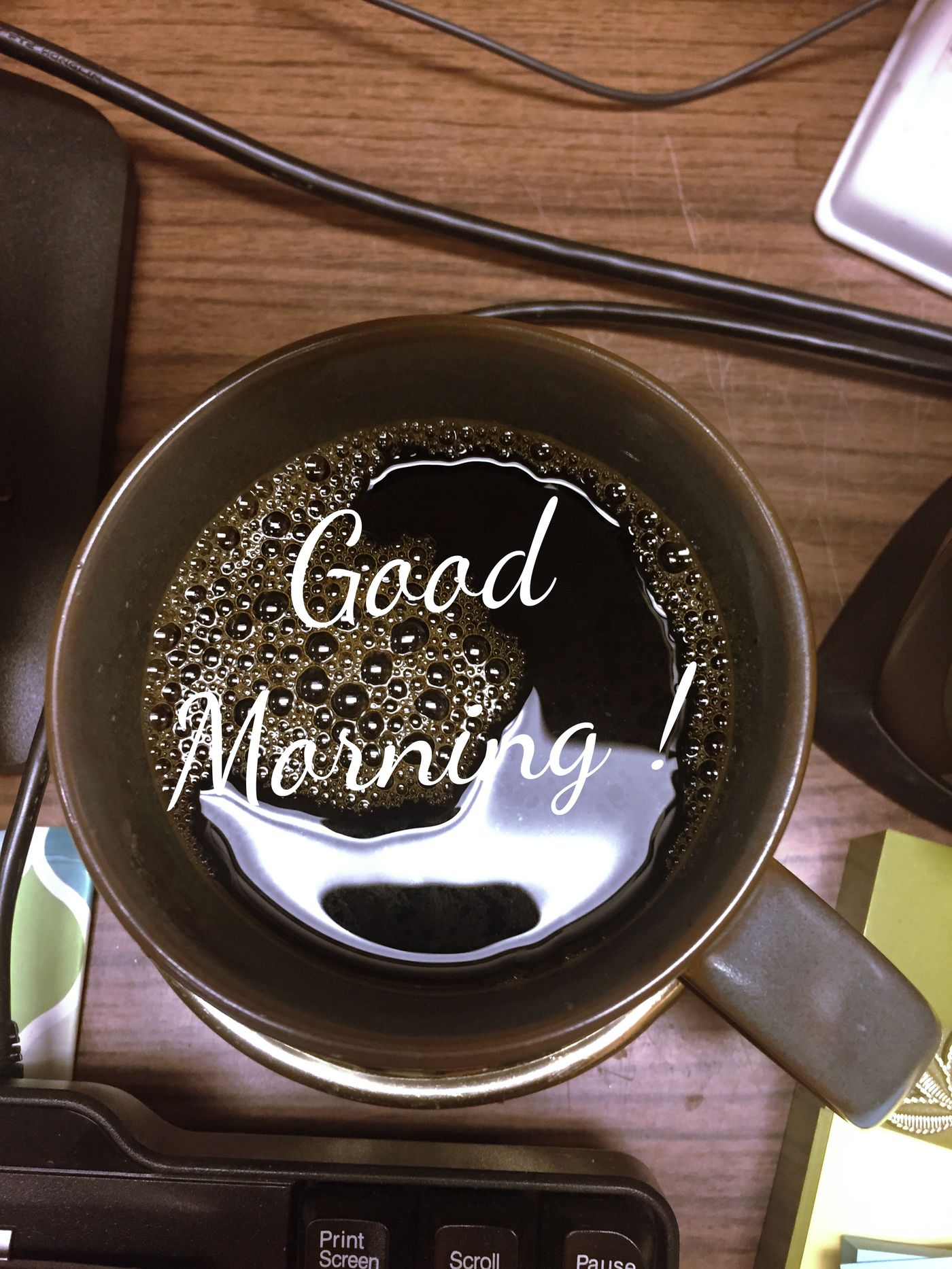 Have a great day friends ☕️☕️☺️💕 Need Coffee My Desk At Work Edit Junkie Join Me 💟 Creative Picture
