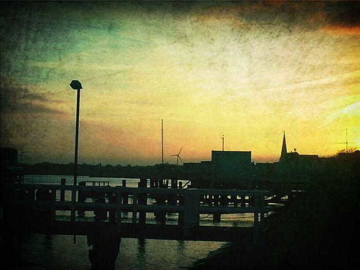 Travemünde Hafen Travemünde Ostsee Abends Abendstimmung