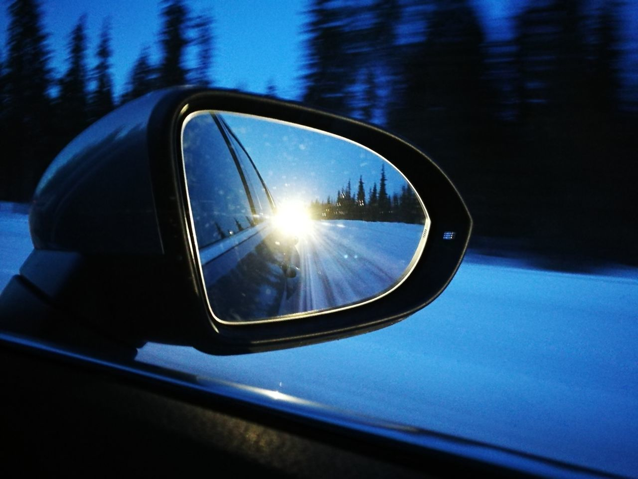 Backlight ( Car Reflection Transportation Mode Of Transport Car Interior Vehicle Interior Side-view Mirror Driving Speed Road Vehicle Mirror Close-up Moving Snow )