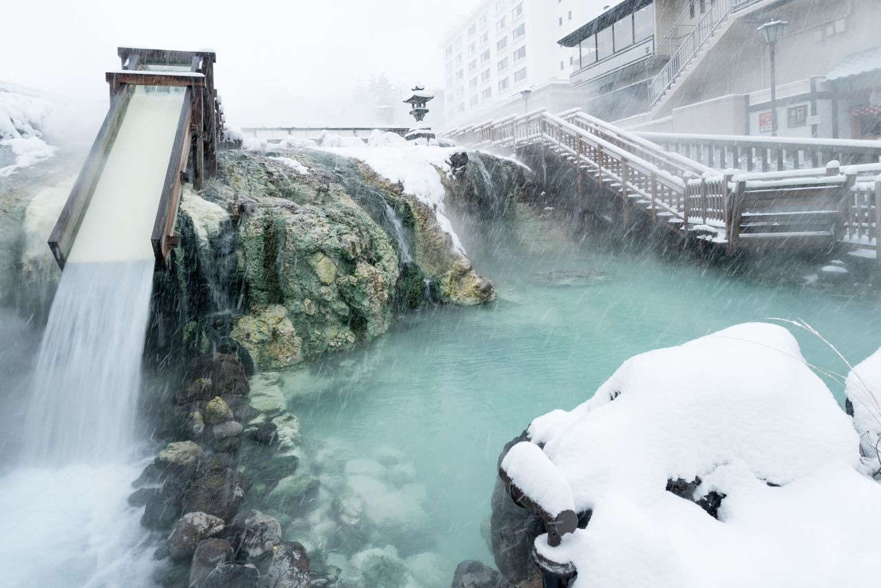 草津 温泉 Japan Photography No People Travel Destinations Japan Snow Onsen