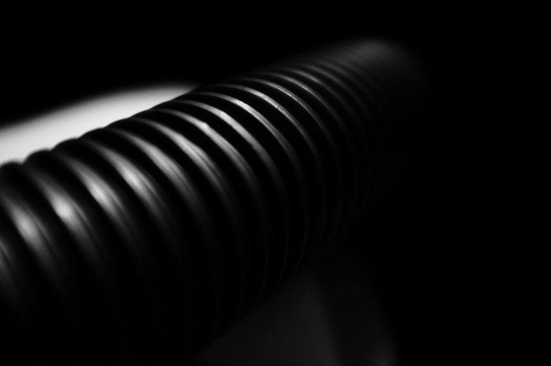 Tube. Spiral Indoors  Black Background Darkness And Light Aliens Tentacles Horror Vacuum Cleaner Vacuum Tube Black And White