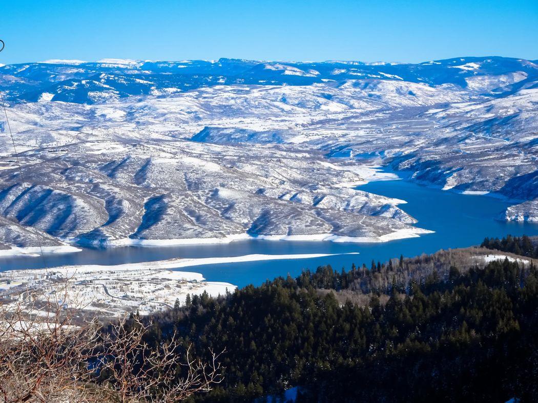 Beauty In Nature Blue Cold Temperature Day Deer Creek Reservoir Heber Hebervalley Landscape Mountain Nature No People Outdoors Scenics Skiing Sky Snow Sundance Mountain Resort Utah Winter Landscape