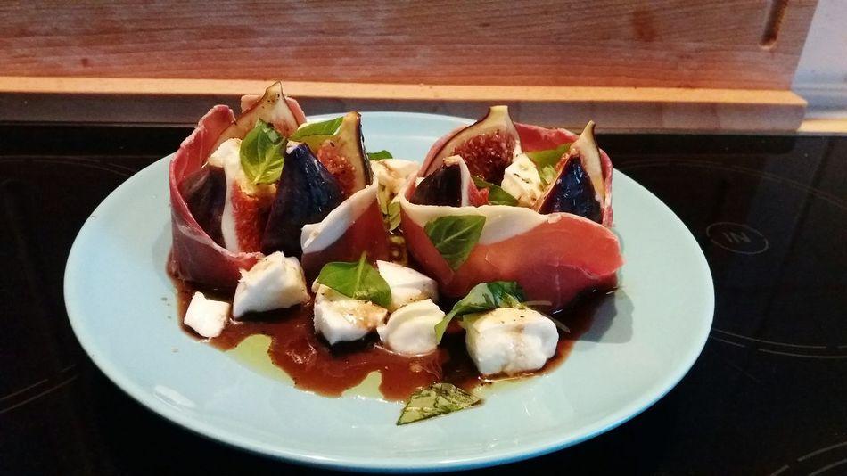 Fig Mozarella Ham Food Photography Food Appetizer Thai Basil