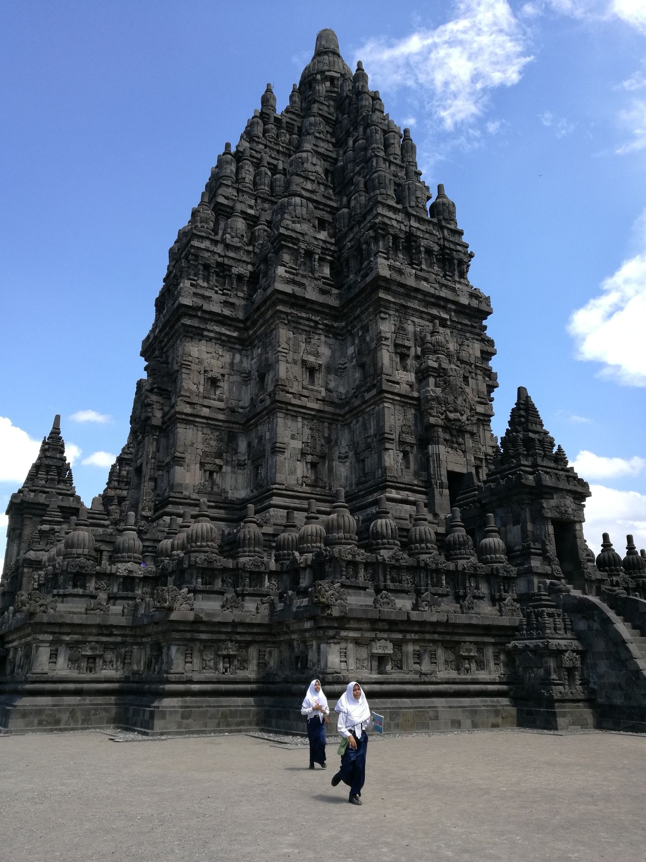 Travel Destinations Architecture Old Ruin History Religion Ancient Civilization Built Structure Travel Building Exterior School Children Running Neighborhood Map Prambanan Temple, Yogyakarta