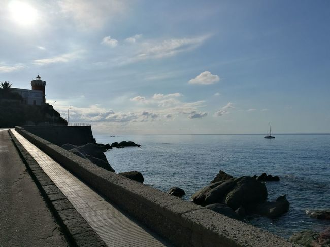 Capo D'Orlando Sea Water Beach Cloud - Sky Tranquility Horizon Over Water Outdoors Sky Nature Day No People Travel Destinations Sunlight Beauty In Nature Landscape Scenics Architecture