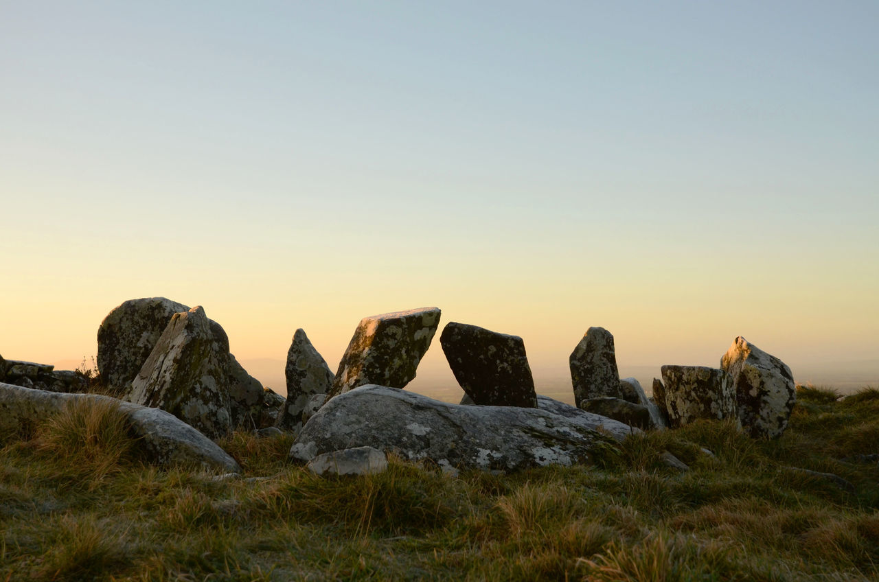 Dawn Light Early Morning Neolithic Ireland Neolithic Stones No People Sky Standing Stones Tranquility