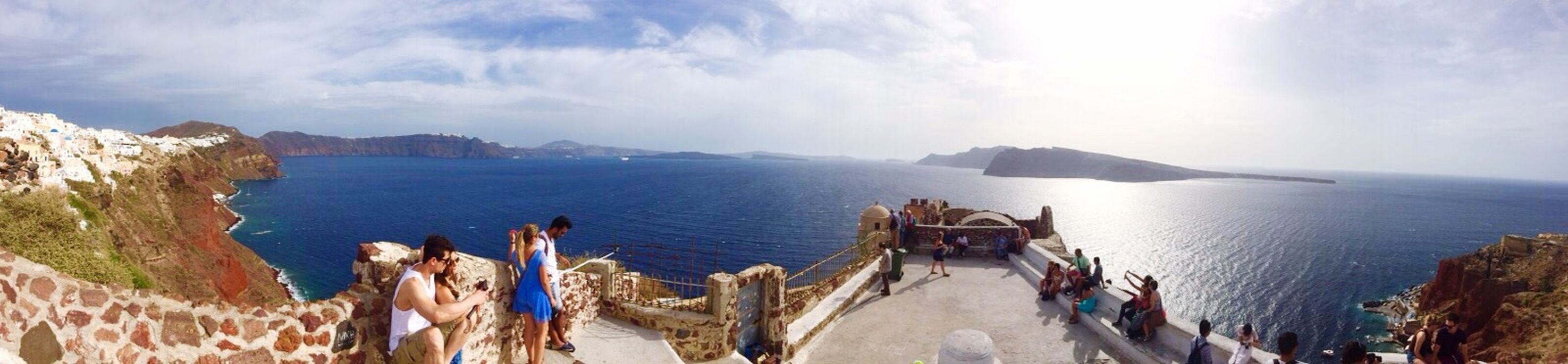 Happiness From Santorini With Love Traveling Panoramas Of Santorini Taking Photos