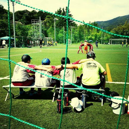 次男くんのフットサルの試合。お天気が良くなってよかった。暑いです! Soccer