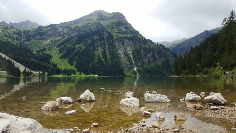 Mountain Water Lake Nature No People Scenics Outdoors Tree Beauty In Nature Day Vilsalpsee Austria Cloudy Day Mountain Lake Pinaceae