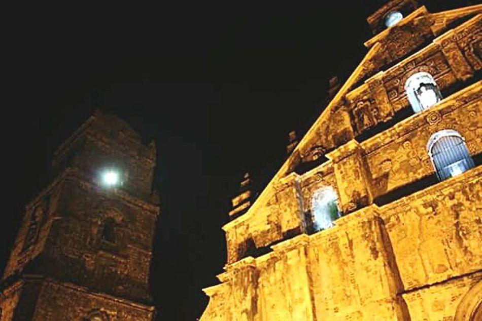 UNESCO. Paoay Church. UNESCO World Heritage Site Church San Agustin Church Paoay Church Paoay Ilocos Norte, Philippines  Philippines Night Belltower Region1 First Eyeem Photo
