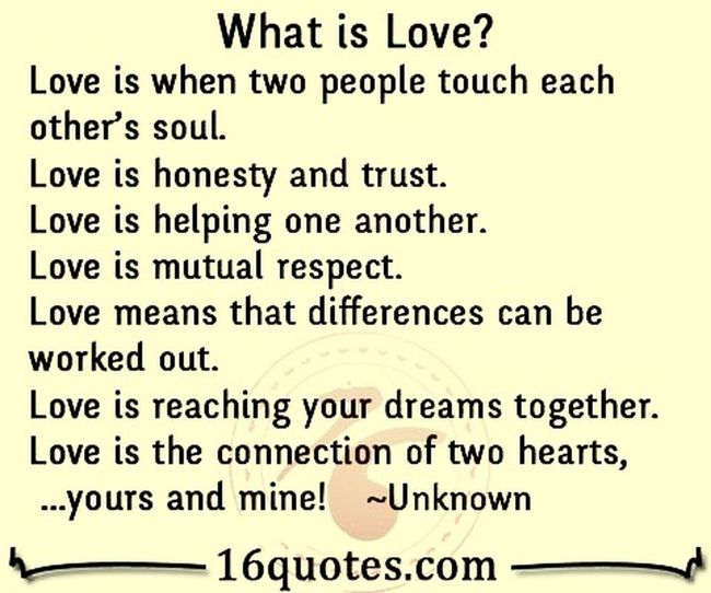 Quote Love What Is Love? True