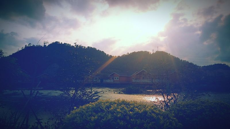 Outdoors Sky Cloud - Sky Nature Cold Temperature Beauty In Nature Spring Sunset Sun Sunlight Sunny Shine - Zhuhai, China 竹银水库