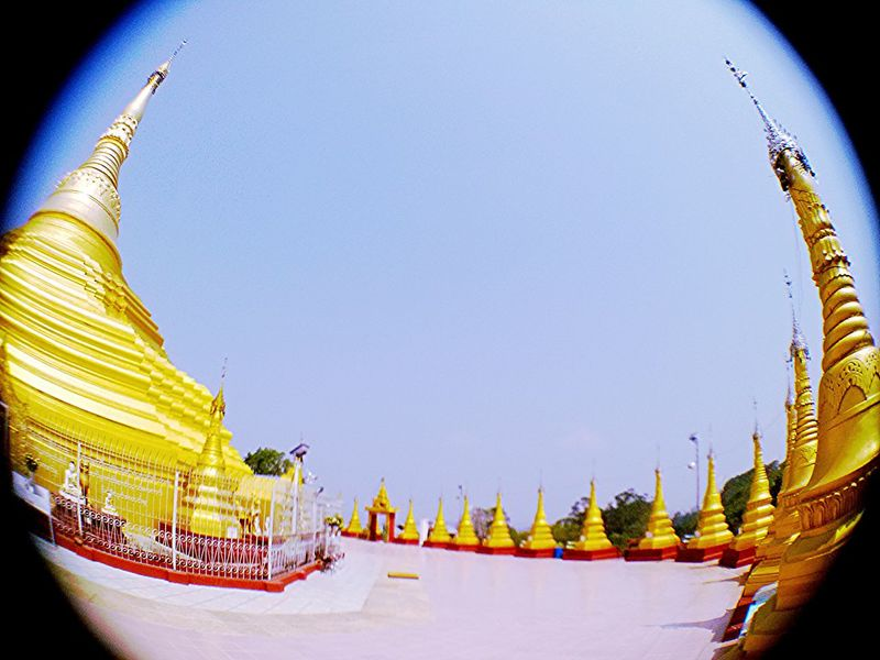 Travel Photography Taking Photos Fish Eye Lens Pagoda