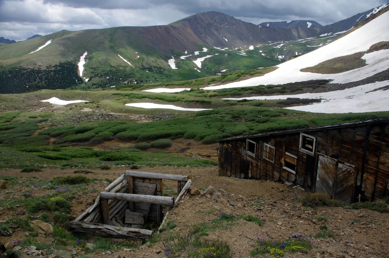 These were shot in late August. Mountain Landscape Snow Scenics Argentine Pass Santiago Mine Mining Heritage Mining History Of America Colorado Colorado Photography