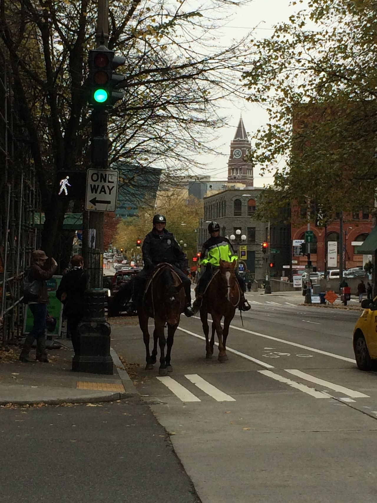 OneYearAgo Seattle USA Horsepolice Oneway