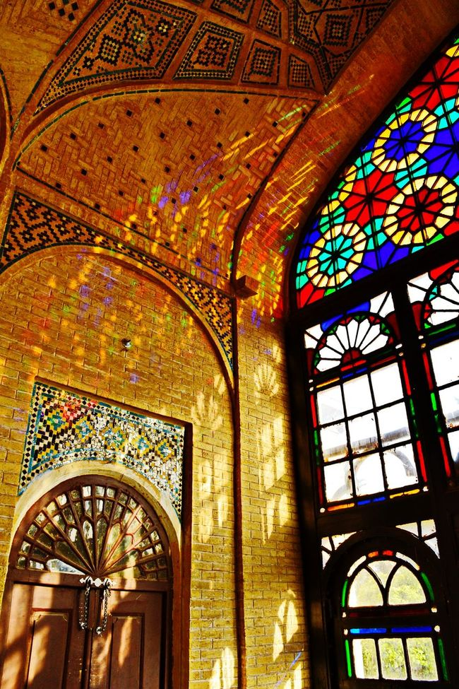 Creative Light And Shadow Hafezie Shiraz, Iran Light Glass Art Sunlight Check This Out Hello World Colorful Architecture