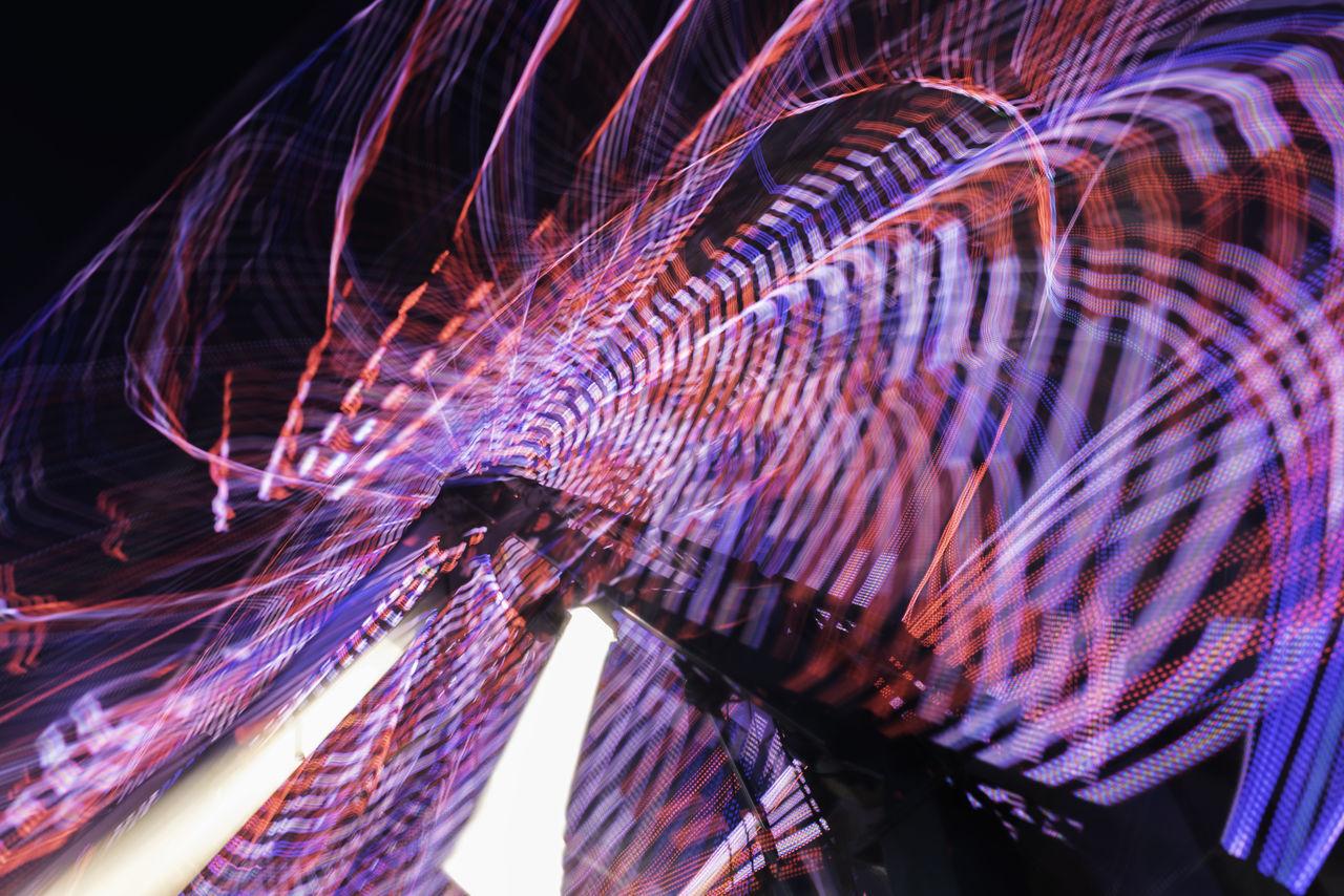 Carnival ride lights. Abstract Carnival Carnival Rides Illuminated Light Long Exposure Long Exposure Night Photography Night Photography Outdoors Slow Shutter Slow Shutter Long Exposure Capture Slow Shutter Speed