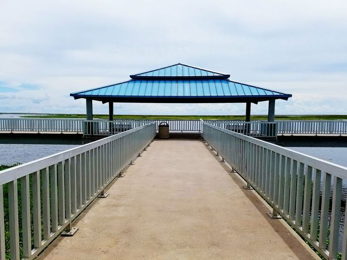 The Bridge Ends Here. Railing Architecture Built Structure The Way Forward Bridge - Man Made Structure Enjoying The Afternoon. Taking Pictures. 💟. Then, The Water.