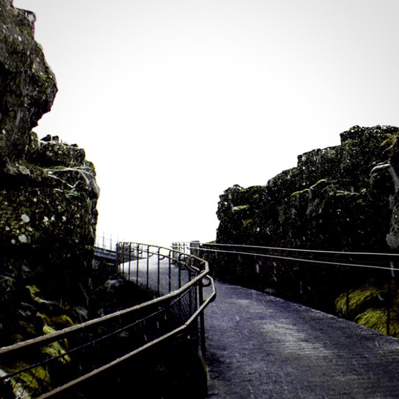 Railing Outdoors Nature No People Day Scenics Beauty In Nature Sky Water Tectonic Tectonicplate Iceland Iceland_collection Iceland Memories Iceland Trip Pingvellir Thingvellir National Park Minimalism Minimal Minimalobsession Path Gloomy Open Edit Cold Temperature Winter