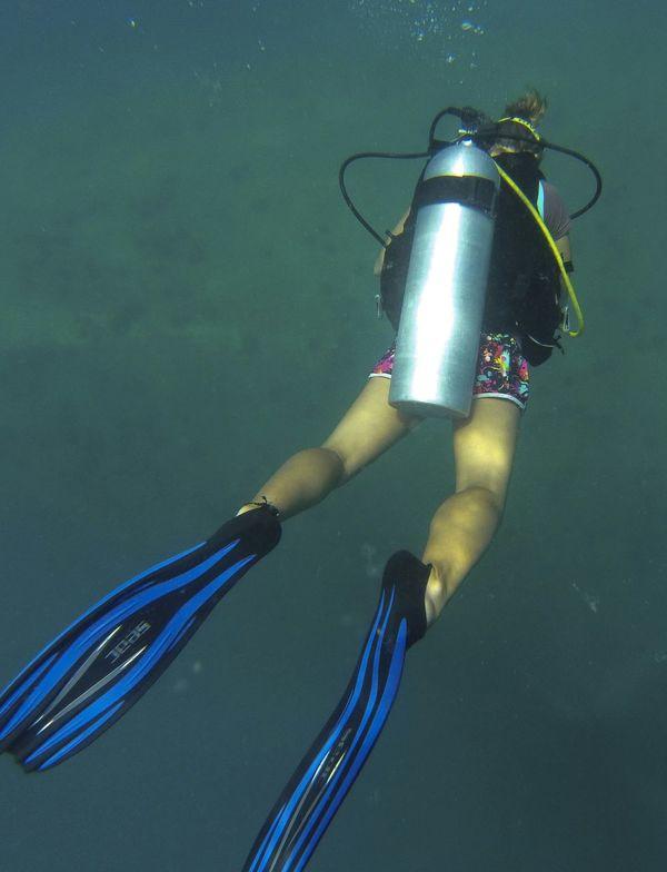little big Mermaid @ Sugar Wreck, Turtle Bay Divers, pulau Perhentian