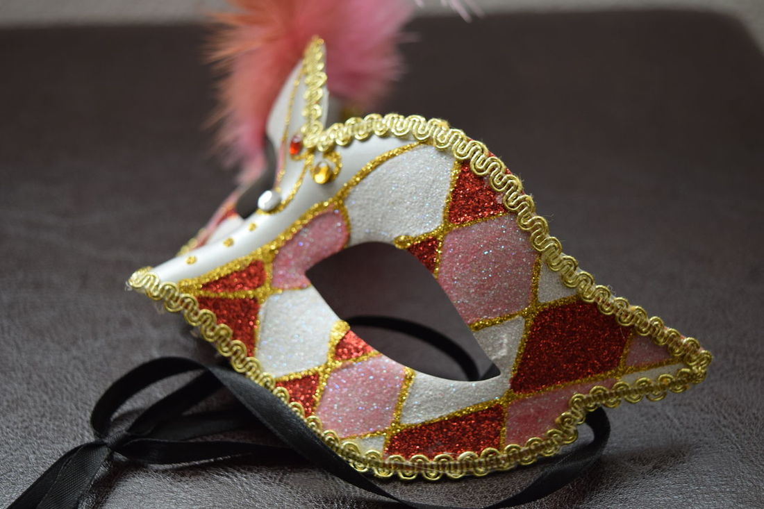 Close-up Fineart Glitter Mask Masquerade Masquerademasks Mystery No People Pink Red Sparkle