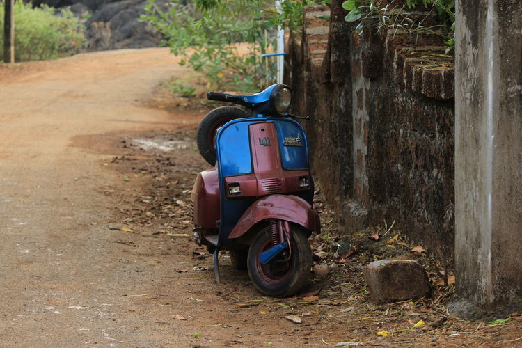 Abandoned Close-up Day Land Vehicle Mode Of Transport Nature No People Old Scooter Outdoors Scooter Stationary Transportation Tree Tree Trunk The Street Photographer - 2017 EyeEm Awards