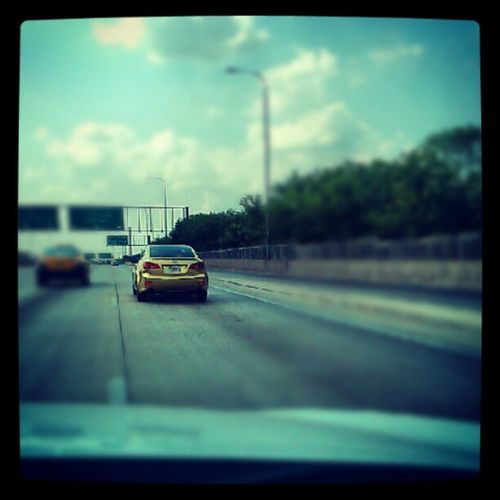 Who the hellllll drives a golden car Dbag