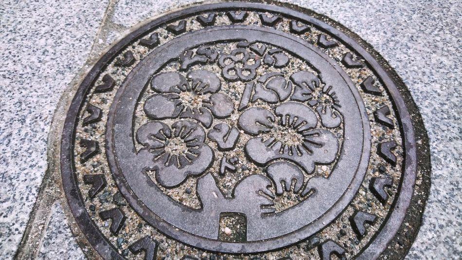 梅の花 マンホール マンホールくらぶ マンホール蓋 Manhole Lids Plum Blossom Manhole Cover Manhole Lids On The Road Manhole Covers Around The World Dazaifu Travel Photography 太宰府 旅写真 From My Point Of View November 2016