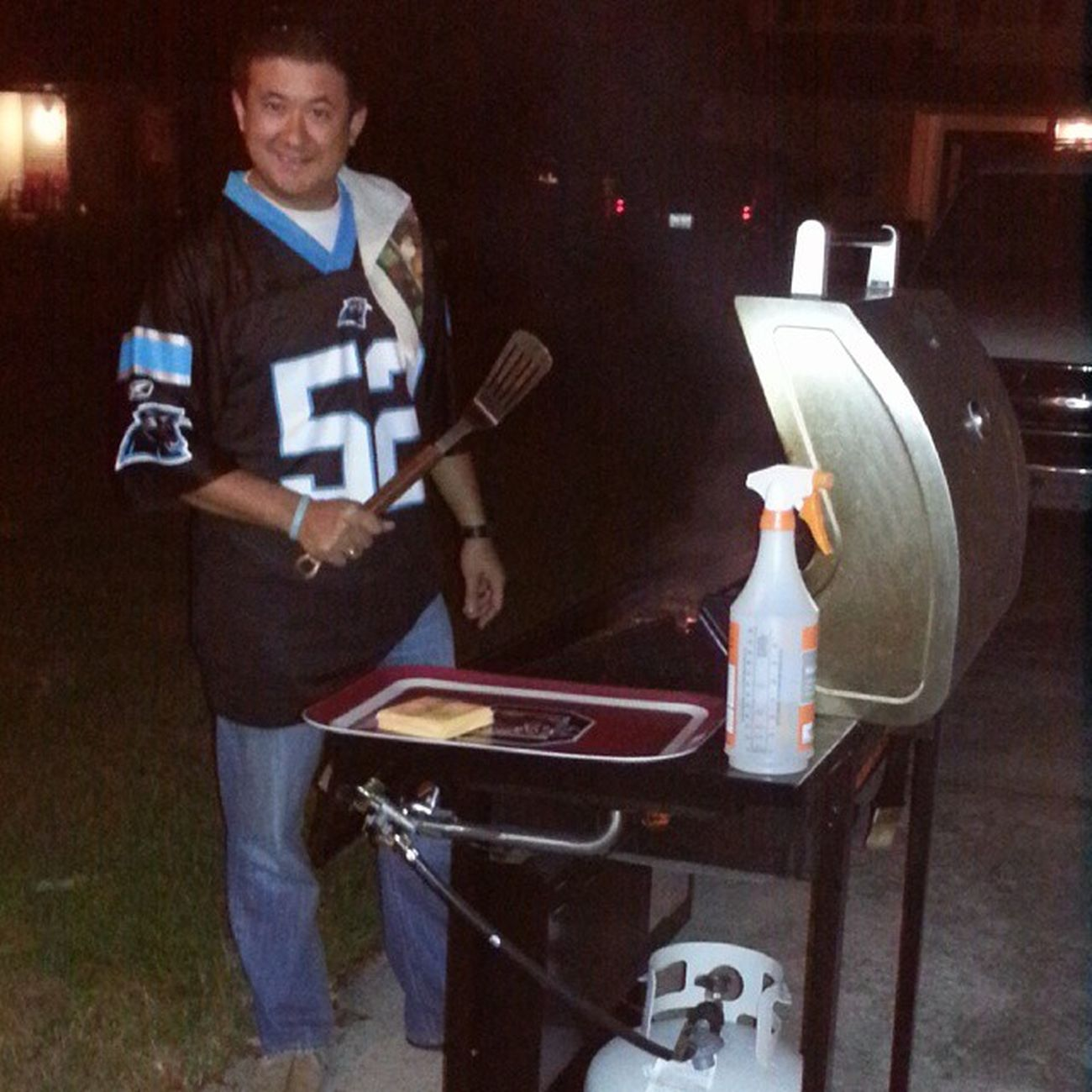 @Panthers PanthersGameDay @brandonjsutherland Grillin Beatthebucs Tnf Panthers Bucs KeepPounding