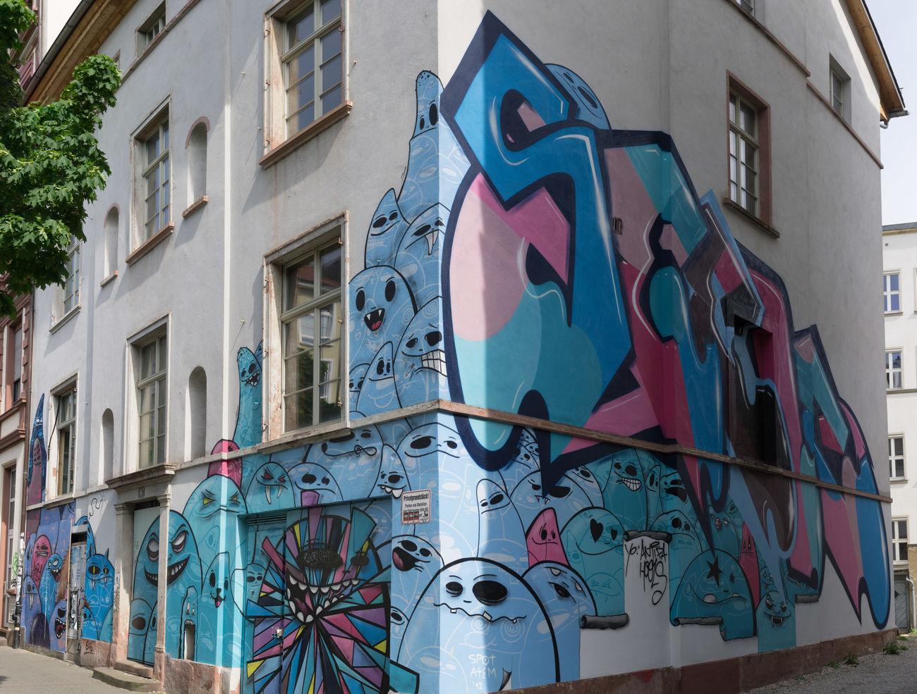 Cityghost Frankfurt Grafiti Art Grafitti Haus House Panorama Stadtgeister