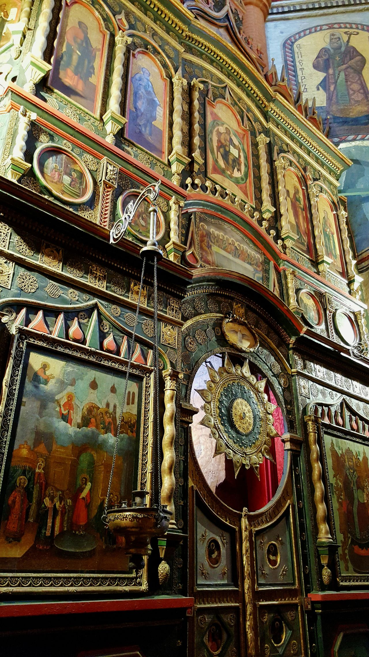 Close-up Indoors  Architecture No People Place Of Worship Wooden Church Russia Moscow Ortodox Church Orthodox Church St. Basil's Cathedral In Moscow St. Basil's Cathedral Cathedral Orthodox Place Of Worship Inside Photography Travel Destinations Spirituality Religion Ikone Painting Altar