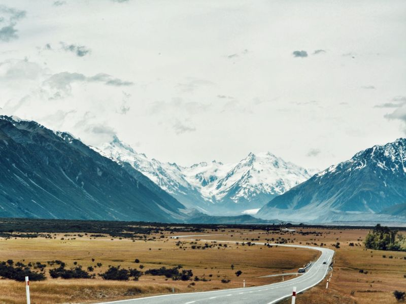 Last Christmas. Mount Cook Snow Mountain Mountain Range Cold Temperature Landscape Summer New Zealand Scenics Beauty In Nature Sky New Zealand Scenery Road Outdoors Ice Day Nature No People