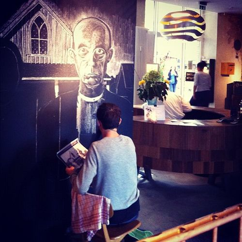 Amazing #chalk #artist at #michelberger today Chalk Artist Michelberger