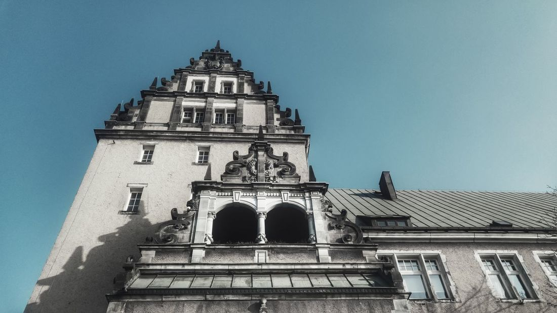 Architecture Tower Travel Destinations Low Angle View History Building Exterior Built Structure Sky No People Clear Sky City Day Outdoors Morning Walk Walking Around Spacer Po Szczecinie Szczecin City Clear Sky