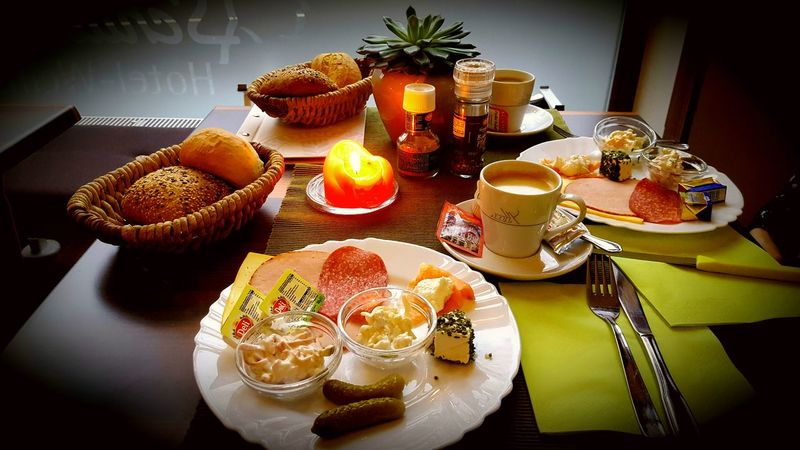 Breakfast Food Stories Table Plate Indoors  Food And Drink No People Food High Angle View Freshness Dessert Indulgence Sweet Food Fruit Healthy Eating Day Ready-to-eat