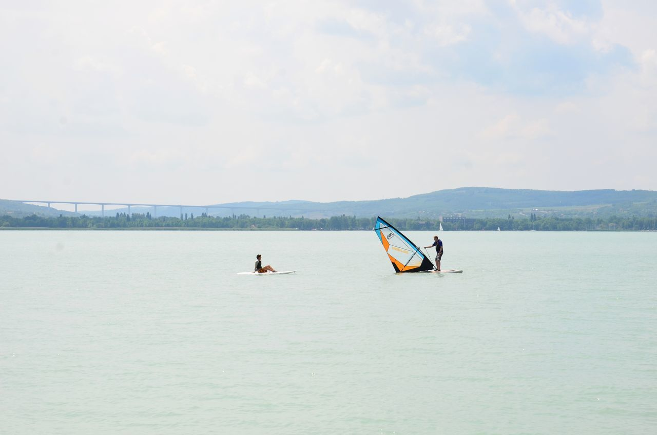 Lake Day Outdoors Water Balaton Hungary Surfing Surf Lessons People Summer Nature Watersport