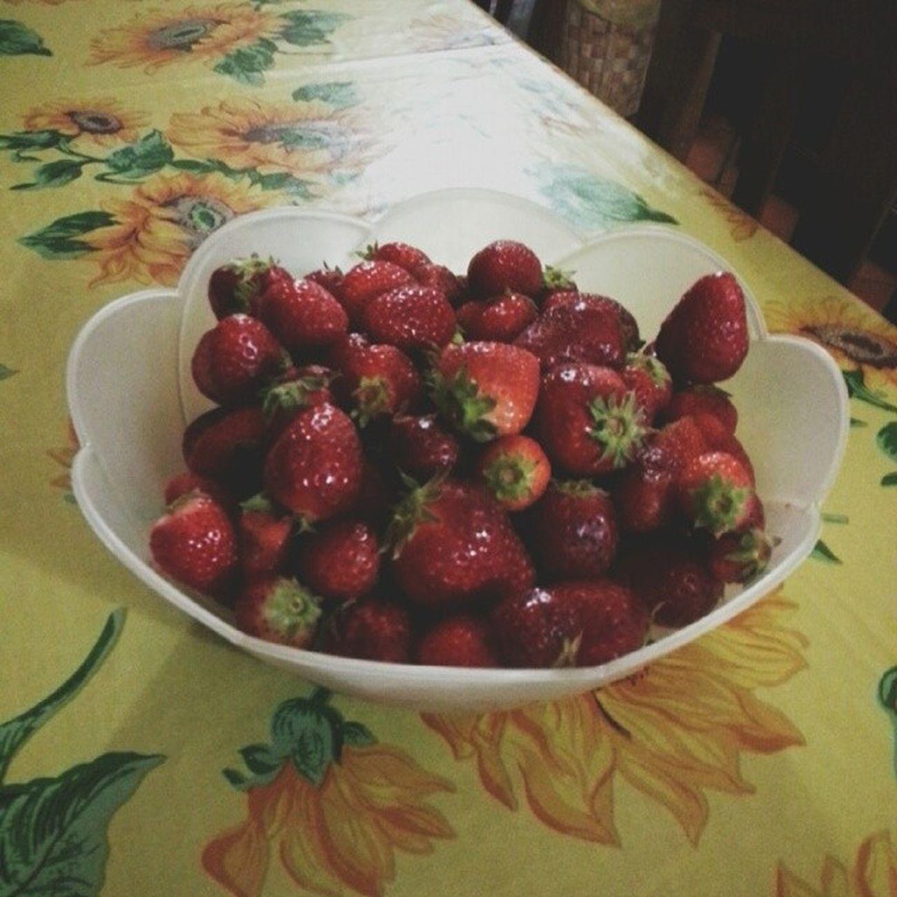 SEMU SENZA FRAGOLE 100happydays Happyday48 Fragole Strawberries fragole summer summeriscoming tagforlike tagforfollower followme mangiare food