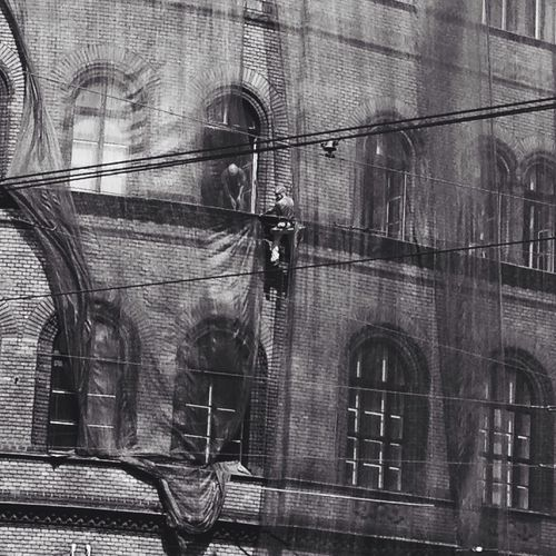 Architecture Building Exterior Day Outdoors Budapest Working Blackandwhite