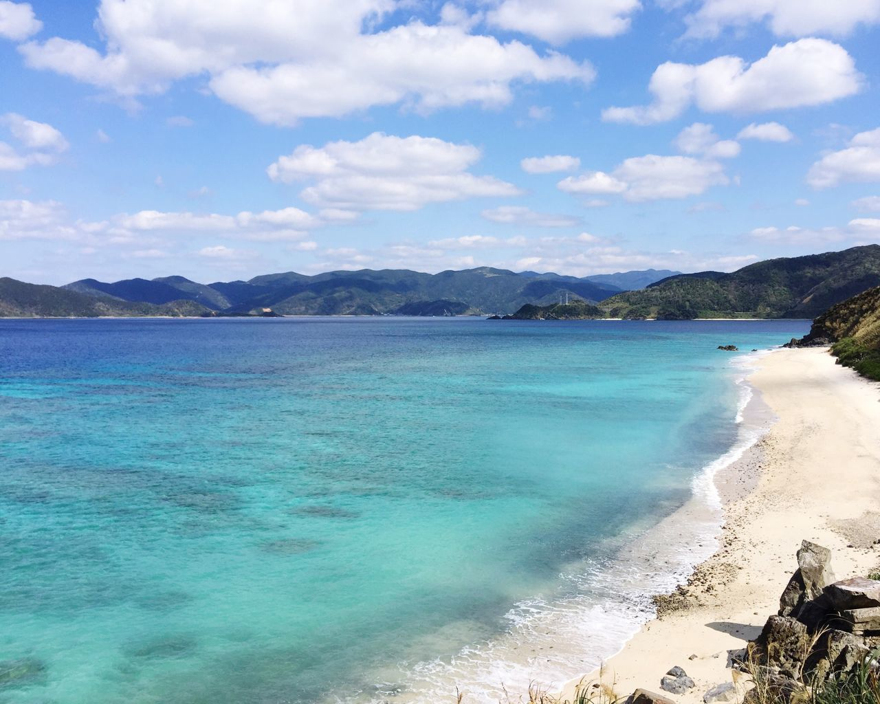 Sea Water Sky Scenics Beauty In Nature Beach Nature Coastline Tourism Cloud - Sky Travel Destinations Mountain Idyllic Outdoors No People Day Turquoise Kagoshima Amami Island