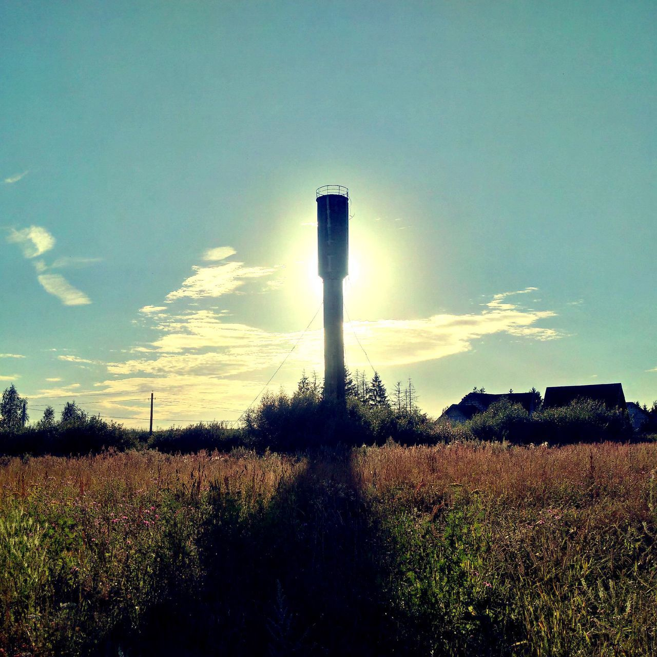industry, sky, field, agriculture, landscape, no people, tranquil scene, nature, growth, tranquility, day, scenics, factory, outdoors, tree, beauty in nature