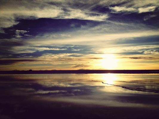 sunset at Uyuni by Zeny