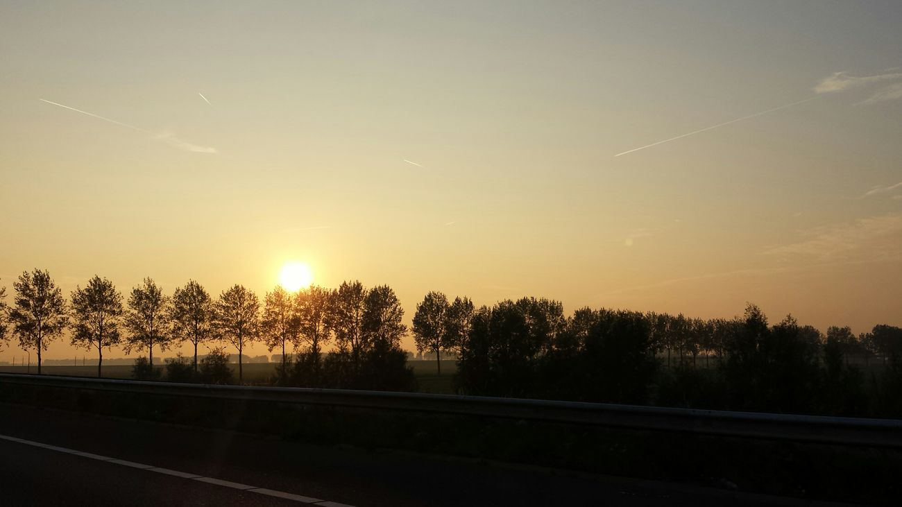 On The Road Holland Nature Sunset سبحانك ربي الحمد_لله The Purist (no Edit, No Filter) Car Travel