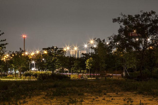 Bangwha Bridge Night View Han River Light Camping Seoul South Korea Korea