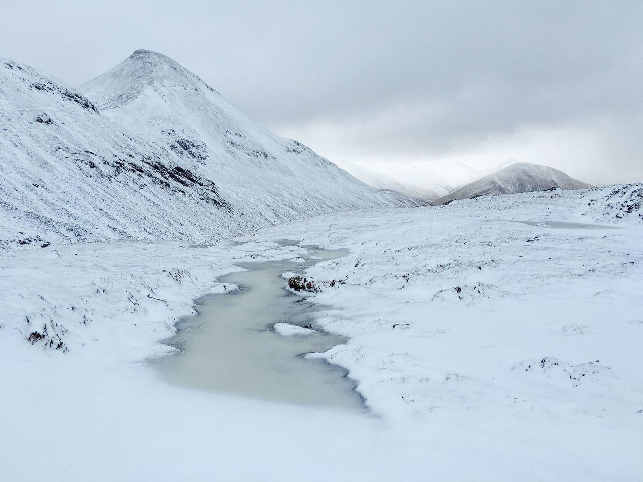 Winter Snow Ice Frozen Mountain Mountains Munro Scotland Highlands Landscape Hiking Trekking Mountaineering Uk Kinlochleven Binnein Beag Binnein Beag, Scotland, UK