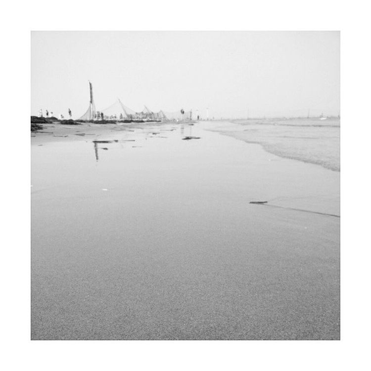 On the beach. China Holidays TANGSHAN Beach sea smog cool blackandwhite chilled