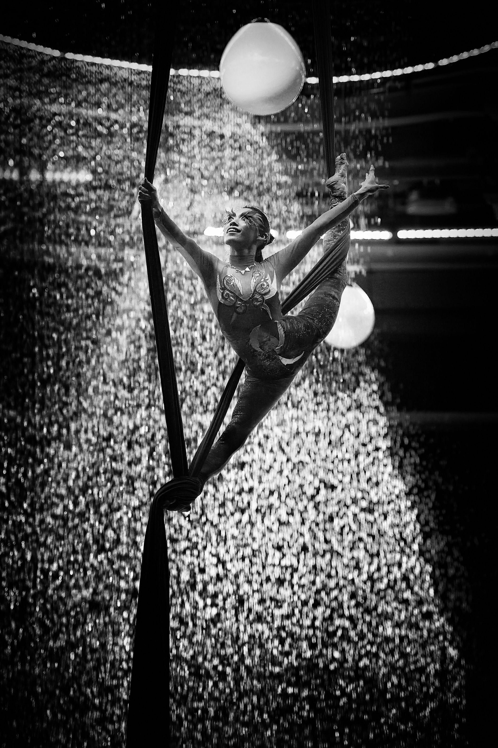 Aerial Silk Ball Blackandwhite Circus Cirque Dancer Eye4photography  EyeEm EyeEm Best Shots EyeEm Gallery Light And Shadow Monochrome Sport Trip Water