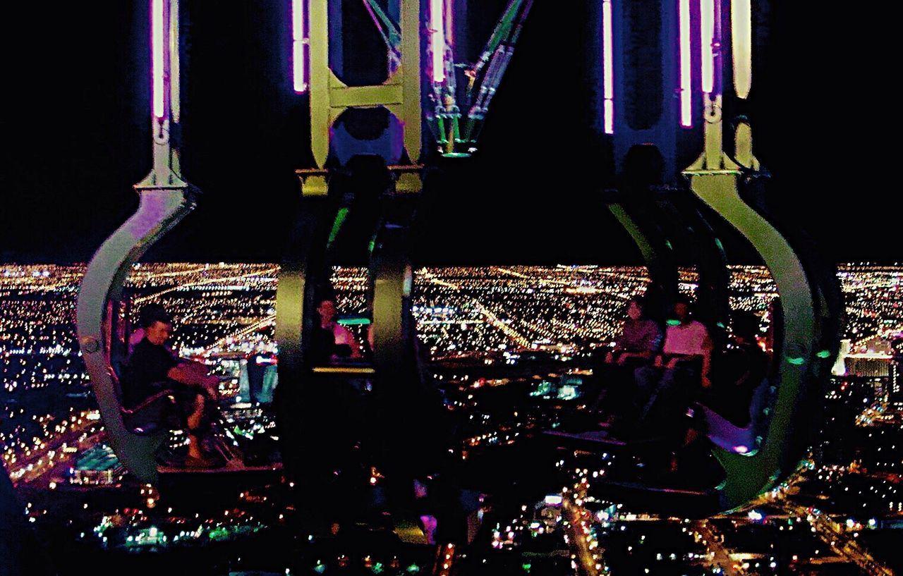 The City Light Arts Culture And Entertainment Stratosphere Tower Night Las Vegas Light And Shadow Lighting Equipment EyeEm Best Shots Eye4photography  EyeEm The Best Shots Nightphotography Nightlife Night Photography Peaple Night Lights