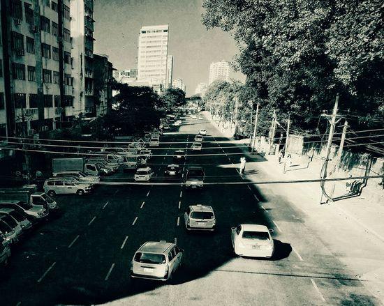 #Road #trip Outdoors Blackandwhite Car Land Vehicle Transportation Street Road Mode Of Transport